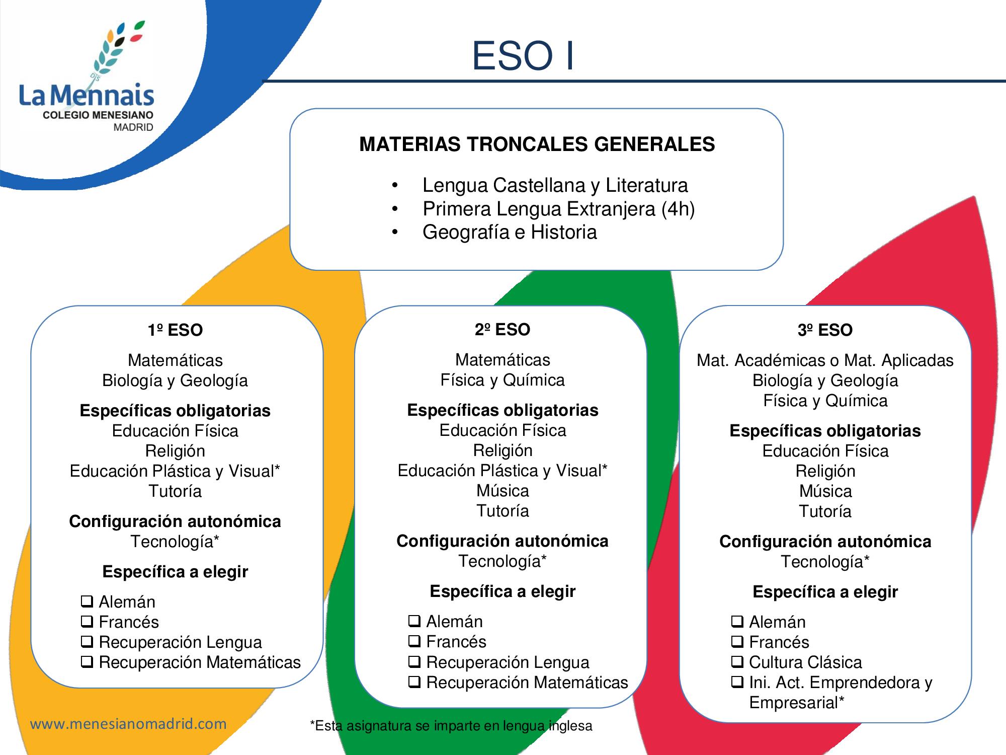 Colegio Menesiano Madrid - Educación Secundaria (E.S.O.)